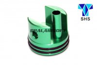 SHS Aluminum Short Type Cylinder Head For Ver.7 M14 Gearbox (Green, O-Ring Bottom) SHS-339