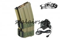 UFC 800rd Electric Double Magazine for M4 AEG (Tan) UFC-BA-MG-698-4A-T