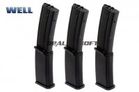 WELL 145rd Hi-Cap Long Magazine For R4 (MP7A1) AEG WELL-MAG-R4L-3PCS
