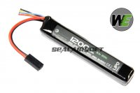 WE 11.1v 1200mAh 20c Candy Bar Pack LiPo Battery (Mini Plug) WE-BAT0011