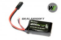 WE 7.4v 1200mAh 30c PEQ1S Type LiPo Battery (Mini Plug) WE-BAT0012