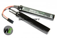 WE 7.4v 2600mAh 20c Nunchuck Type LiPo Battery (Mini Plug) WE-BAT0017