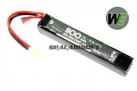 WE 9.9v 1100mAh 20c Candy Bar Pack LiPo Battery (Mini Plug) WE-BAT0024