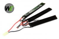 WE 9.9v 1100mAh 20c Triplet Pack LiPo Battery (Mini Plug) WE-BAT0025