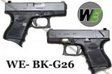 WE G26 GBB Pistol (Black) - WE-BK-G26
