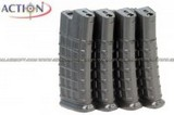ACTION 300rd AUG AEG Hi-Cap Magazine Box Set (4PCS) AT-MAG-300-AU-SET