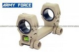 Army Force QD Dual Scope Mount With Spirit Level (30mm/25mm, Tan) AF-MT0036B-TAN