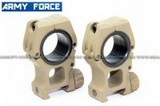 Army Force QD Tactical 30mm/25mm Mount Ring (High Profile / Tan) AF-MT0035B-TAN