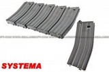 SYSTEMA120rd Magazine for PTW M4/M16 (6pcs Pack) SYS-NM16-AC011-HW