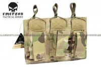EMERSON 5.56 & Pistol Triple Open Top Magazine Pouch (Multicam) EM6363-MC