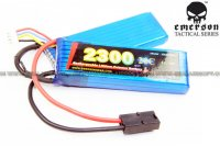 EMERSON 11.1V 2300mAh 20C Multipurpose Style Lithium Battery (Large/Small Twin Pack) EM8395A