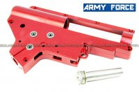 Army Force CNC 8mm Bearing QD AEG RED Ver.2 Gearbox Shell AF-IN0061