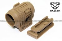 A.P.S. (Aurora Tech) Weapon Flashlight Mount With Belt Clip (Dark Earth) APS-GG021D