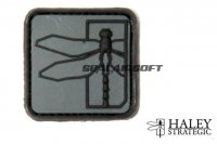 Haley Strategic 1 Inch Dragonfly Disruptive Grey PVC Patch HALS-HSP008P