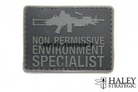 Haley Strategic NPES SAW Disruptive Grey PVC Patch HALS-BPRE002P