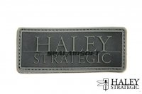 Haley Strategic Brand DISRUPTIVE Grey PVC Patch HALS-HSP001P