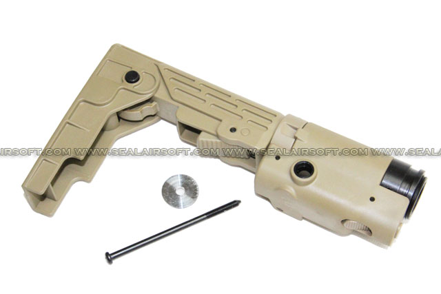 Retractable Folding Stock for Airsoft M4 / SR16 / SR25 AEG DE - RFB01-DE