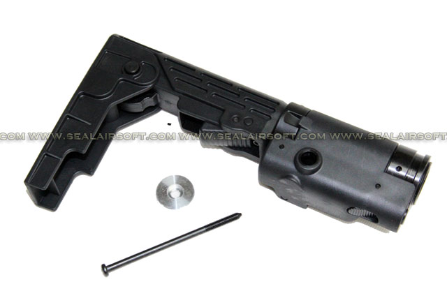 Retractable Folding Stock for Airsoft M4 / SR16 / SR25 AEG BK - RFB01-BK